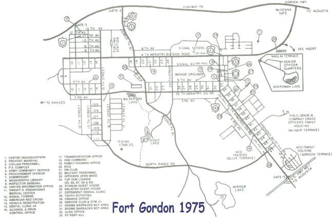 Fort Gordon Map maps